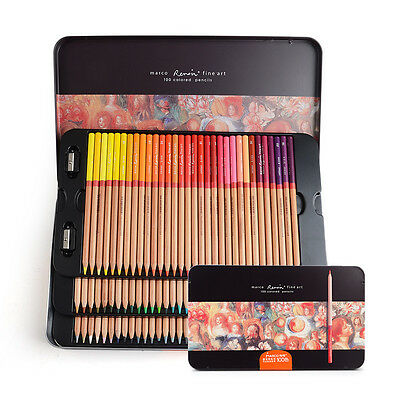 Marco Renoir Fine Art 100 100 Pack Coloured Pencils for Sketching Adult Coloring