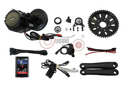 BBS03 48V 1000W 8Fun Bafang BBSHD Mid Drive Ebike Kit with TFT-850C Color Panel