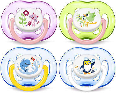 Avent -  FreeFlow Soothers / Dummies - 18+ Month - 2pack -- Choose Colour
