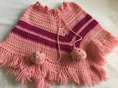 Vintage (1970's) Crochet Child's Poncho 1-3 years