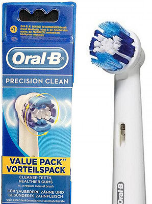 Braun Oral-B PRECISION Electric Toothbrush Replacement Brush Heads 4 Heads