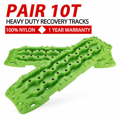Green 10T Recovery Tracks 4WD Off Road 4x4 Sand Snow Track 10Tons Max Loading