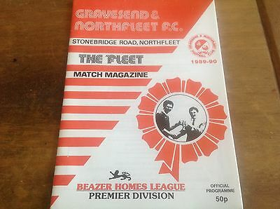 Gravesend V Tottenham/West Ham Friendly 1990 Mint Condition