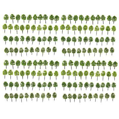 160pcs Model 5cm Trees Layout Train Diorama Landscape Scenery 1:250 Z Scale