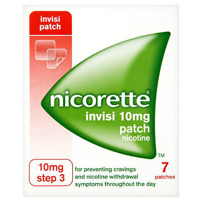 Nicorette Invisi Patch 10mg 7 Patches Step 3 -14 pathes total