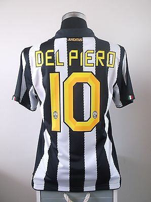 Alessandro DEL PIERO #10 Juventus Home Football Shirt Jersey 2010/11 (M)