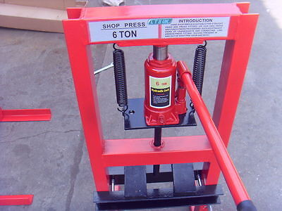 6 Ton Industrial Hydraulic Workshop/Garage/Shop Press  NEW CT187 2 year warranty