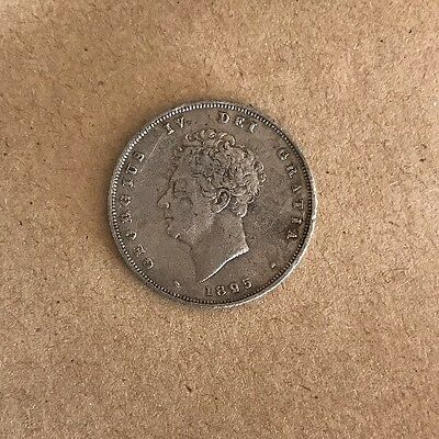 1826 George IV Shilling Coin See Photos Would Benefit From A Light Clean