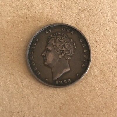1826 George IV Shilling Beautiful Dark Tone!