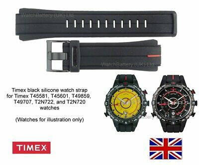 Genuine Timex Silicone Watch Strap for Mens T45581, T2N720 E-tide Watch - 16mm