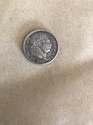 1819 George III Shilling Superb Condition