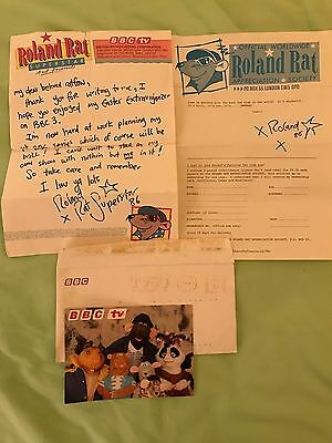 Extremely Rare: Roland Rat Fan Club Letters, Photo And Autograph.
