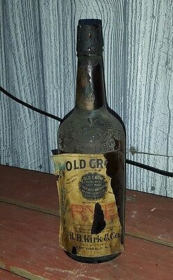 vintage old crow whiskey bottle