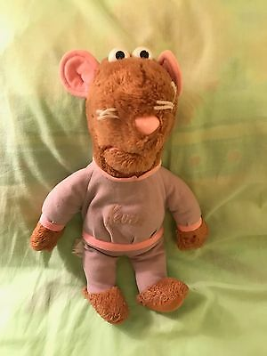 """HASBRO. KEVIN THE GERBIL PLUSH TOY. Vintage 1980's Kevin the Gerbil 13"""" inch."""