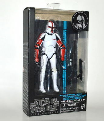 Star Wars Black Series 6 Inch Action Figure Wave 8- Clone Trooper Captain  MIB