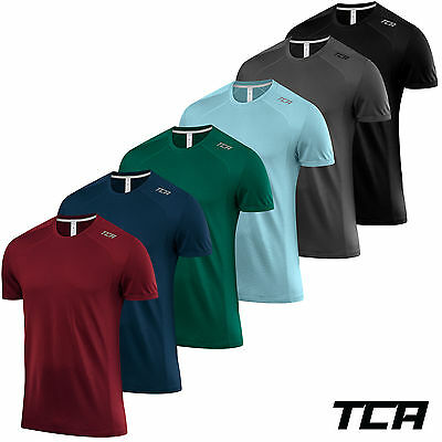 TCA Mens Bamboo Fibre Natural Wicking Fabric Sports and Fitness T-Shirt Top Tee