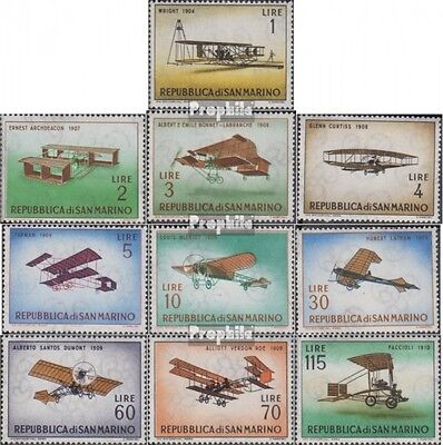 San Marino 719-728 (complete issue) unmounted mint / never hinged 1962 Old Aircr
