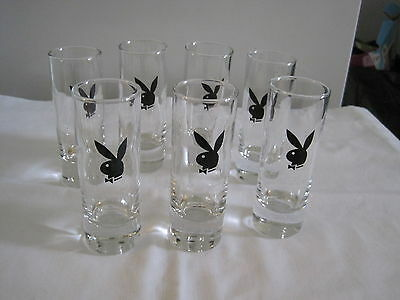 "7  tall shot glasse's with ""Playboy Logo"""