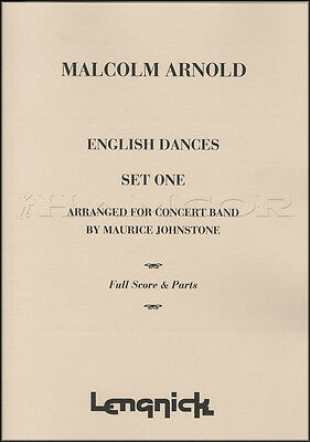 Malcolm Arnold English Dances Set 1 Music for Concert Band Full Score & Parts