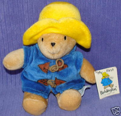 "Eden Paddington Bear 32820 W/tag 9"" Tall ~ Bn21"