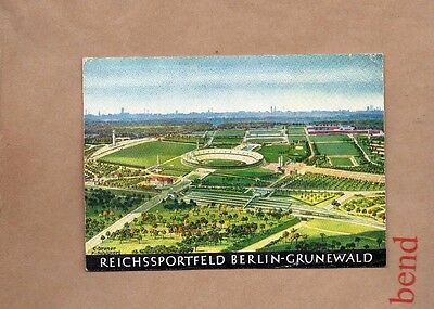 1936 Berlin Olympics Colour card of the stadium and surrounding area unpost xc1