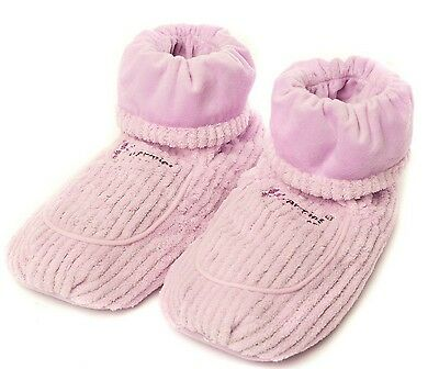 Intelex Warmies Scented Lavender Lilac Spa Therapy Microwavable Slipper Boots