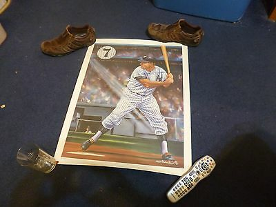 Artist Robert Simon Mickey Mantle Unsigned Lithograph Le 232/750 Elite Sports
