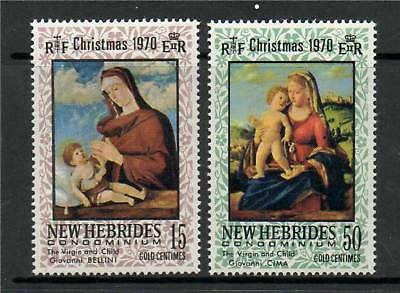 New Hebrides (French) 1970 Christmas SG F160/1 MNH