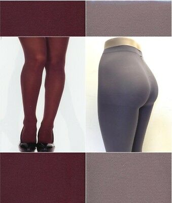 Music Legs 747 Q Women Tights Opaque Nylon Plus Size Queen Grey or Coffee Brown