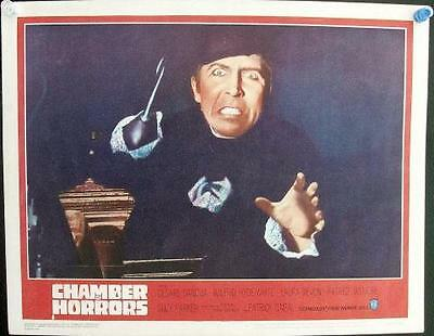 LOT OF 5 VINTAGE 1960's HORROR LOBBY CARDS SOME HAMMER BUT NO UNIVERSAL