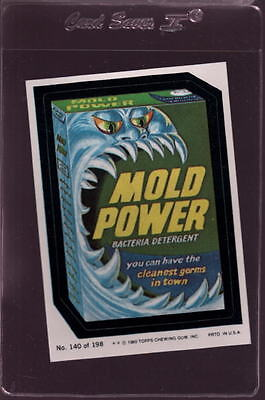 1980 Wacky Packages Stickers #140 Mold Power Mint  *028949