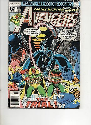 The Avengers 160 Very Fine 1977 Marvel Bronze Age Comic