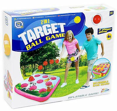 2 in 1 Target Ball Game - Double Sided Inflatable Outdoor Garden Games Set