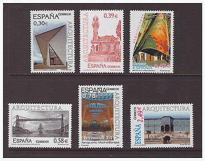 Spain 2007 Architecture   MNH mint set stamp SG4250-4255