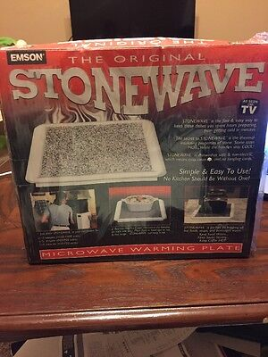NEW SEALED! STONEWAVE Microwave Stone Food WARMING TRAY HOT PLATE As Seen On TV