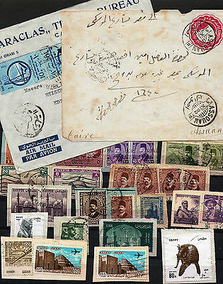 Egypt Selection Of Stamps & Covers As Scanned