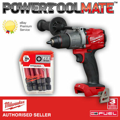 Milwaukee M18FPD2-0 18V Compact Combi Drill (Body Only) + 4932352980 Bit Set
