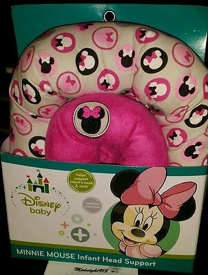 🍼🎀disney Minnie Mouse Infant Head Support🎀🍼machine Washable🍼🎀