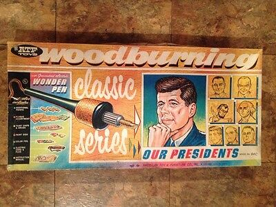 Vintage American Toy & Furniture Co. Wood burning Kit Out Presidents