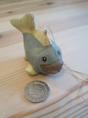 Novelty small clay painted fish hang it or just an ornament