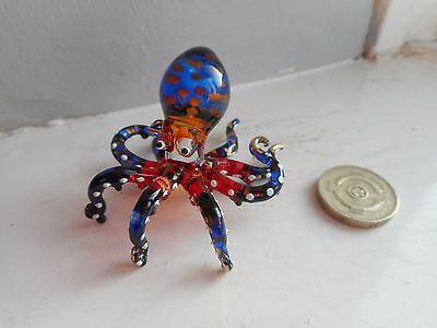 Octopus - Beautiful - Colourful - Multi-Coloured And Gold -  Glass  Octopus