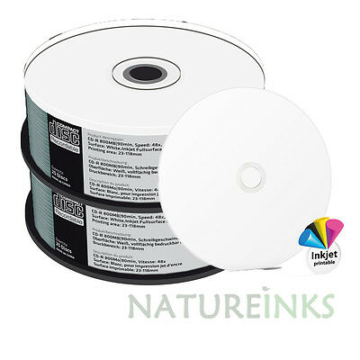50 MediaRange CD R 48x Blank CD-R Discs Printable full face 90 min 800MB MR242