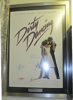 Dirty Dancing signed cinema poster Terry Wogan Patrick Swayze 10% to C IN NEED