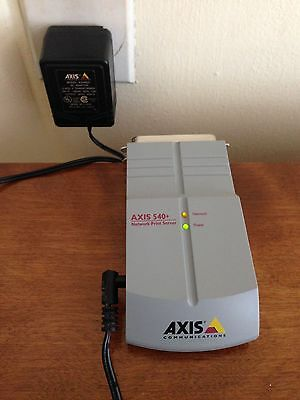 Axis 540 Print Server Network w/Power Charger