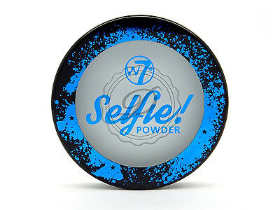 W7 Selfie! Powder - Face Fixer Matte Compact Blue Hint Finish Pressed Makeup