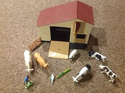 Britains toy farm barn and animals