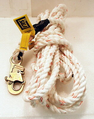 "3M DBI-SALA 1202754 Vertical Systems 5/8"" Poly 30-Foot Rope Lifeline w/ Snaphook"