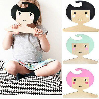 Handmade Wooden Kids Room Wall Hanging Baby Girl Clothes Rack Photography Props