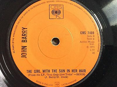 """JOHN BARRY MISS-PRESS """"Girl With The Sun In Her Hair""""1971 *JAMES BOND/Persuaders"""