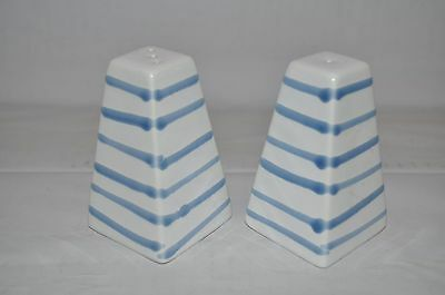 Vintage blue and white salt and pepper pots